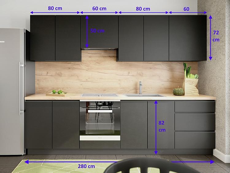 Einbauküche Campari 280 cm