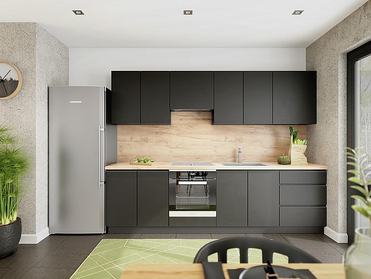 Küche Campari schwarz matt