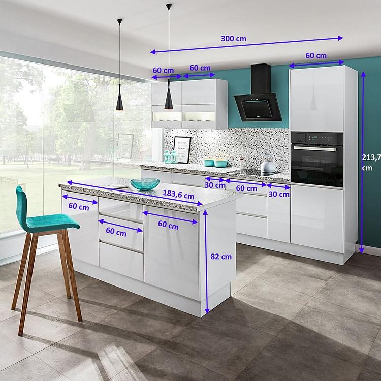 Inselküche Campari 300 cm