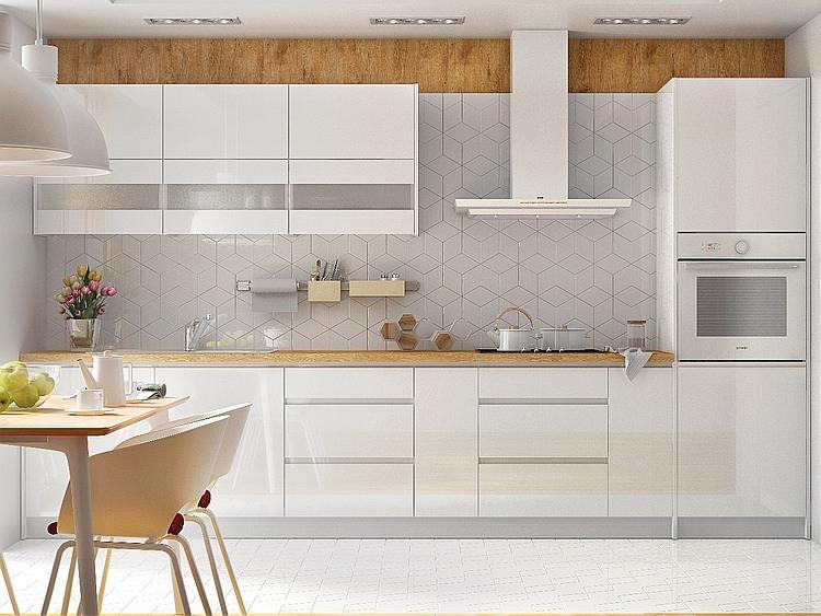 Küchenzeile Campari 360 cm weiß hochglanz