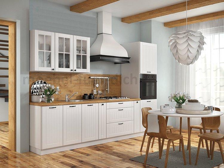 Landhaus Einbauküche Küchenzeile 300 cm 8-teilig im ...