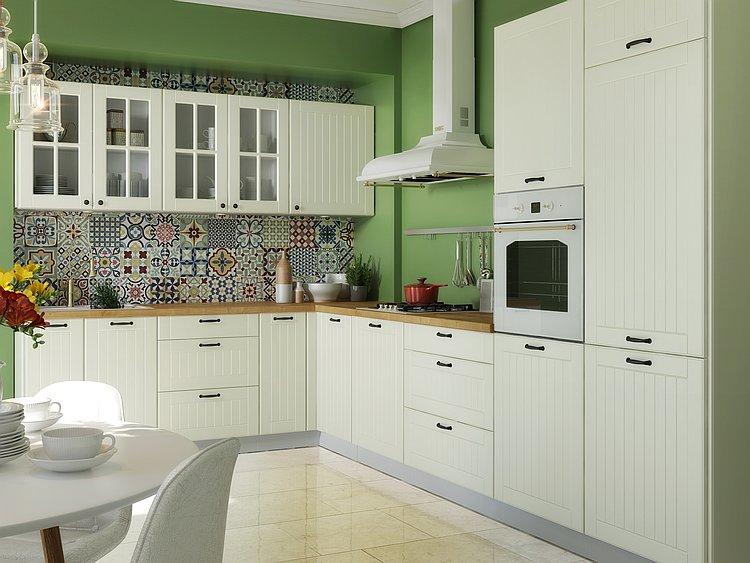 Landhaus Küchenzeile Lora beige