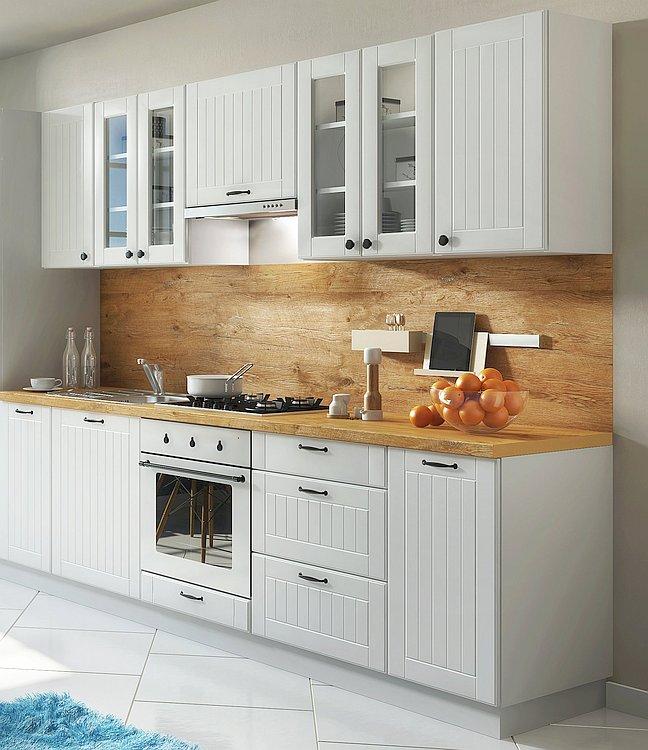 OGrau Küchenzeile Cm 260 Einbauküche Lora Details Landhausstil Zu Landhaus Im WeißBeige UMSzVqpG