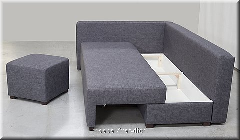 kleine polsterecke hilton ecksofa mit hocker m bel f r. Black Bedroom Furniture Sets. Home Design Ideas