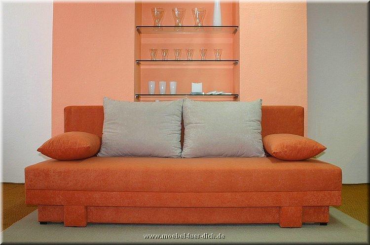 Sofa Lotus mit Federkern und Bettkasten