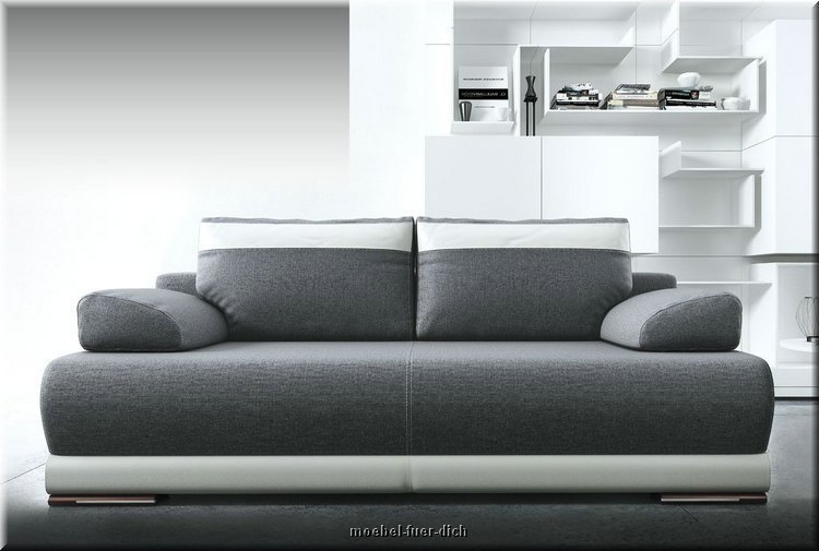 neu ontario bettsofa schlafcouch mit bettkasten und federung ebay. Black Bedroom Furniture Sets. Home Design Ideas