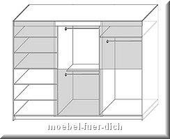 Aufteilung Schrank 270 cm