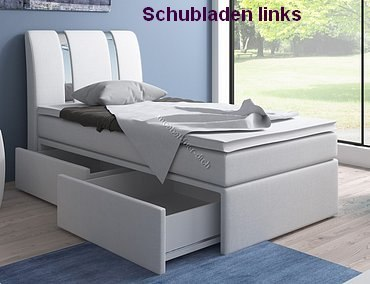 boxspringbett einzelbett 90x200 mit bettkasten m bel f r. Black Bedroom Furniture Sets. Home Design Ideas