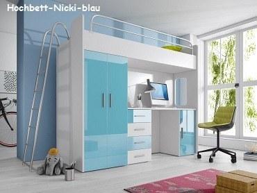 Hochbett Nicki blau