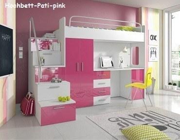 Hochbett Pati pink