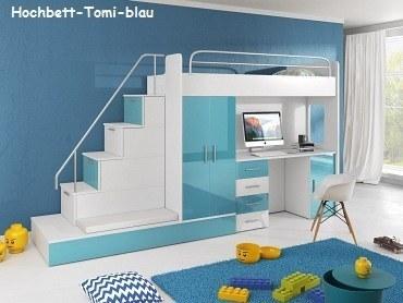 Hochbett Tomi blau