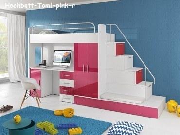 hochbett tomi mit schreibtisch schrank und regal m bel f r dich online shop. Black Bedroom Furniture Sets. Home Design Ideas