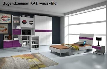 Jugenzimmer KAI weiss/lila
