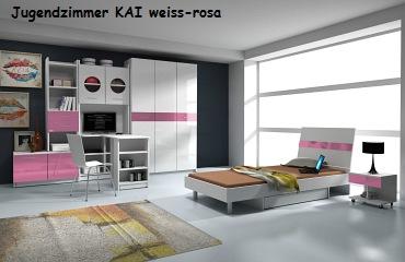 Jugenzimmer Kai weiss/rosa
