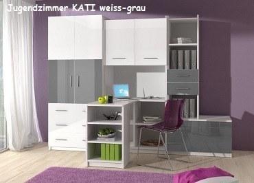 Jugenzimmer KATI weis/grau