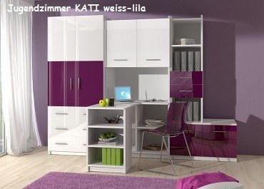 Lovely Jugenzimmer KATI Weis/rosa Jugenzimmer KATI Weis/lila Nice Design