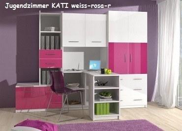 Jugenzimmer KATI weis/rosa