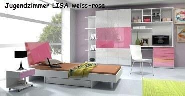 Jugenzimmer LISA weiss/rosa