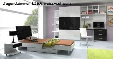 Jugenzimmer LISA weis/schwarz