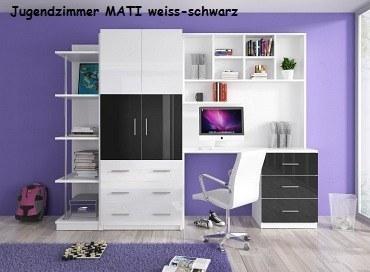 Jugenzimmer MATI weis/schwarz