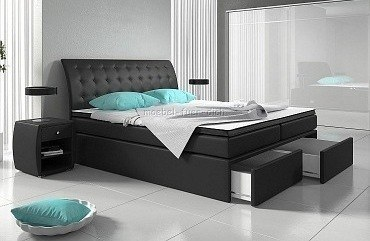 boxspringbett roxybox mit zwei bettk sten m bel f r dich. Black Bedroom Furniture Sets. Home Design Ideas