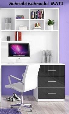 Jugenzimmer MATI Schreibtisch mit Aufsatz