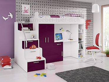 Hochbett ARI violett