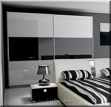 schlafzimmer komplett hochglanz schwarz weiss bett. Black Bedroom Furniture Sets. Home Design Ideas