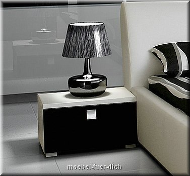 komplett schlafzimmer set hochglanz schwarz kleiderschrank bett 2 x nachttisch ebay. Black Bedroom Furniture Sets. Home Design Ideas