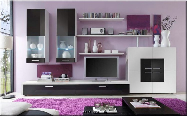 wohnwand delta hochglanz und inkl led m bel f r dich online shop. Black Bedroom Furniture Sets. Home Design Ideas