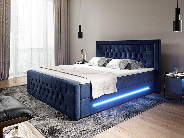 Boxspringbett Ravenna mit LED und Bettkasten