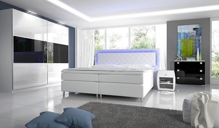 komplett schlafzimmer hochglanz novabox kleiderschrank. Black Bedroom Furniture Sets. Home Design Ideas
