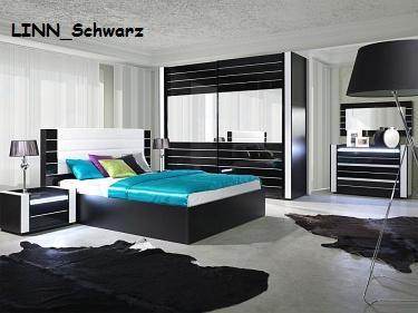 Komplett Schlafzimmer RivaBOX in Hochglanz mit BOXSPRINGBETT weiß ...