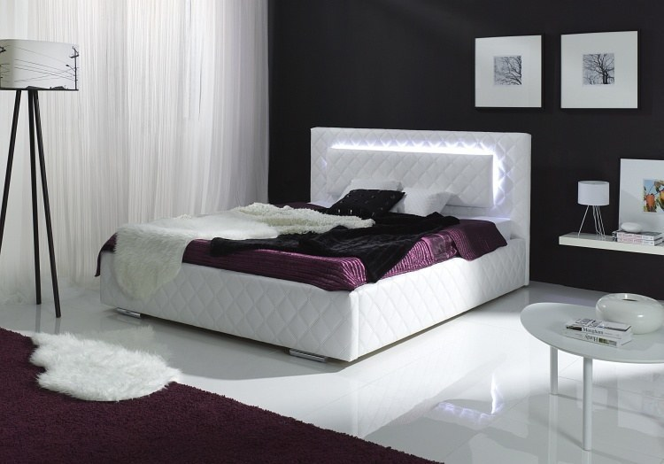 designer polsterbett brasil mit led. Black Bedroom Furniture Sets. Home Design Ideas