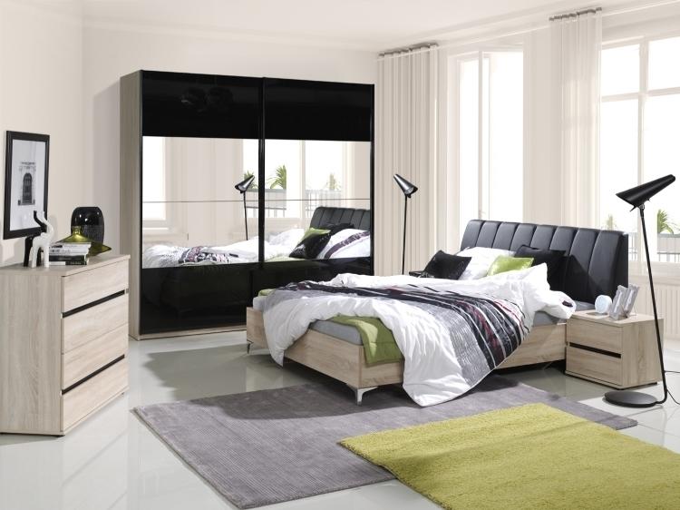 Schlafzimmer Bilder Möbel Für Die Wohlfühloase: Schlafzimmer Komplett Saragossa Hochglanz Schwarz Weiss