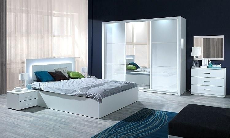 Schlafzimmer Weiß Komplett In Hochglanz | Siena - Möbel Für Dich
