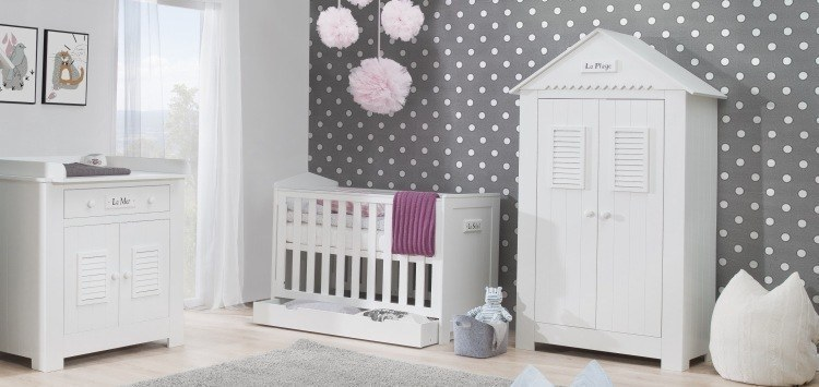 babyzimmer set marseille mdf von pinio 4 tlg babybett wickelkommode schrank2t ebay. Black Bedroom Furniture Sets. Home Design Ideas
