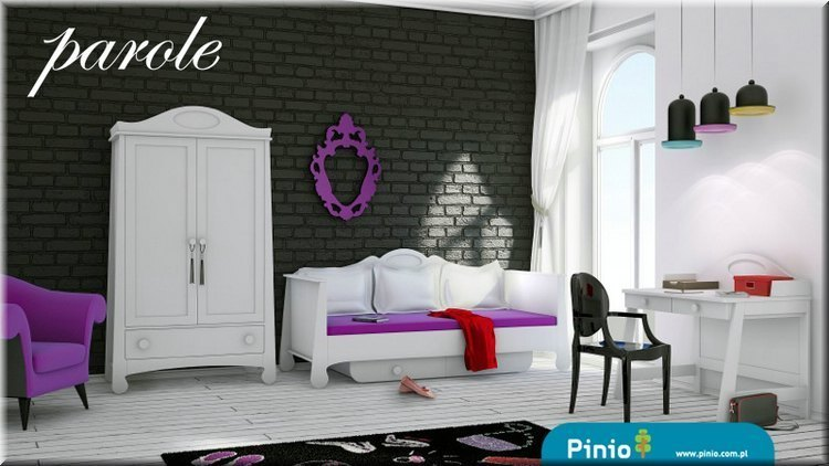 kinderzimmer jugendzimmer parole bettsofa schrank schreibtisch von pinio ebay. Black Bedroom Furniture Sets. Home Design Ideas