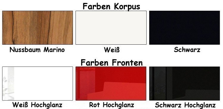 medienwand BOX-Plan Farben