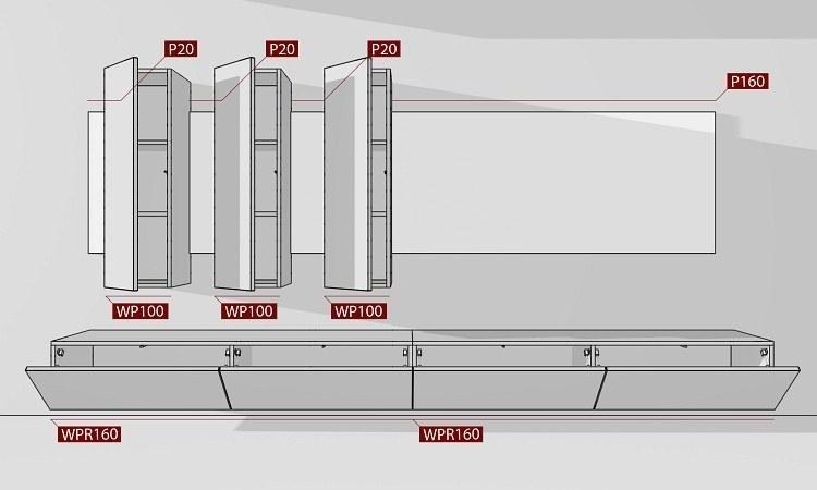 Wohnwand BOX-Plan 1 Abmessungen