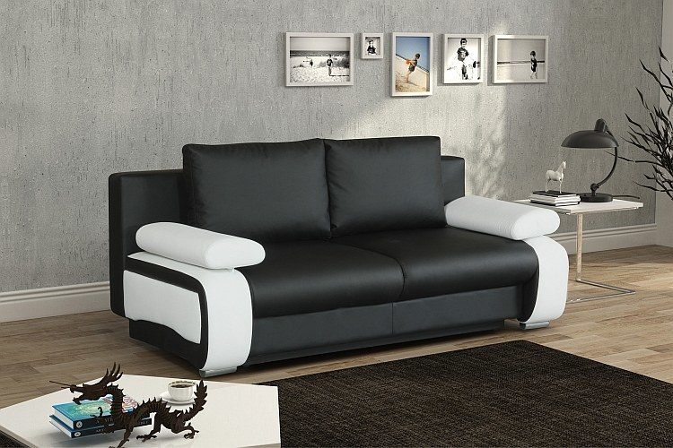 bettsofa schlafsofa charlie mit bettkasten stoff und farbauswahl neu ebay. Black Bedroom Furniture Sets. Home Design Ideas