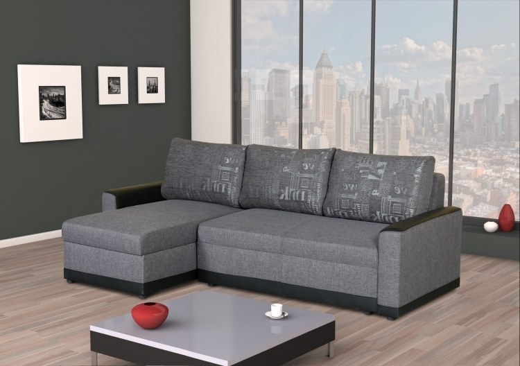 ecksofa mit schlaffunktion federkern 2 x bettkasten stoff und farbauswahl ebay. Black Bedroom Furniture Sets. Home Design Ideas